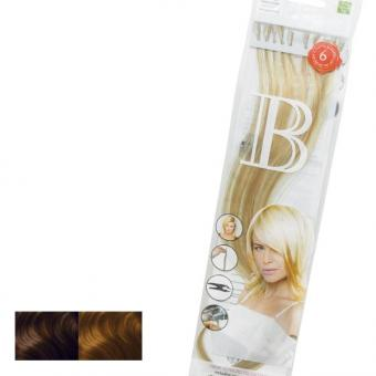 Balmain Fill-In Extensions Natural Straight Duotone 8/27 (level 8) Dark Coco Blond/Medium Beige Blond