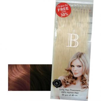 Balmain Fill-In Extensions Value Pack Natural Straight 12/6 Medium Blond/Light Mocca