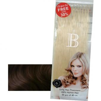 Balmain Fill-In Extensions Value Pack Natural Straight 2/4 Dark Brown/Medium Brown