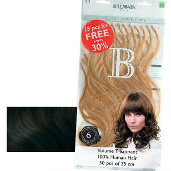 Balmain Fill-In Extensions Value Pack Natural Straight 1B Black - 1