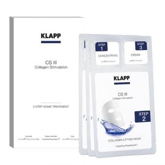 KLAPP CS III COLLAGEN STIMULATION 3 Step Home Treatment Pro Packung 3 Stück