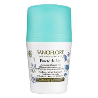 Sanoflore Pureté de Lin Deodorant Roll-On 50 ml - 1