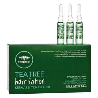 Paul Mitchell Tea Tree Hair Lotion Keravis & Tea Tree Oil Packung mit 12 x 6 ml