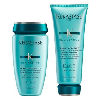Kérastase Resistance Pflegeduo Set (Shampoo 250 ml + Conditioner 200 ml)  - 1