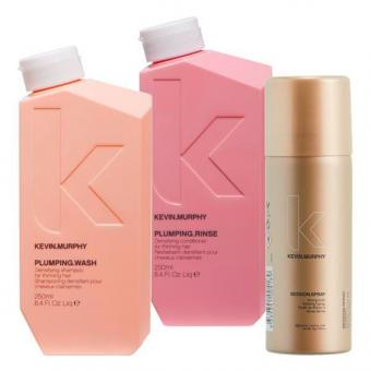 Kevin.Murphy Plumping Set (Shampoo 250 ml + Conditioner 250 ml + Haarspray 100 ml)  - 1