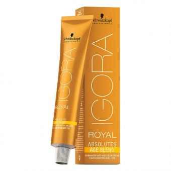 Schwarzkopf IGORA ROYAL Absolutes Age Blend 8-140 Hellblond Cendré Beige, Tube 60 ml