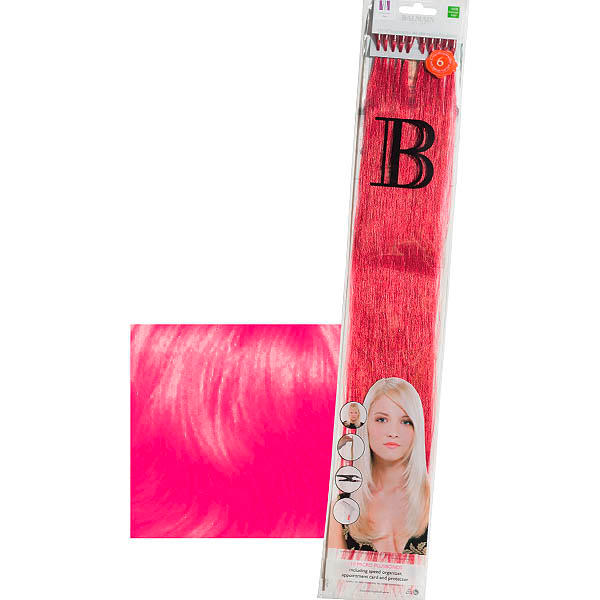 Balmain Fill-In Extensions Straight Fantasy Human Hair Barbie Pink - 1