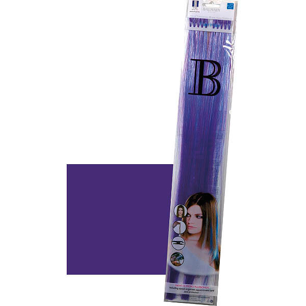 Balmain Fill-In Extensions Straight Fantasy Fiber Hair Dark Purple - 1