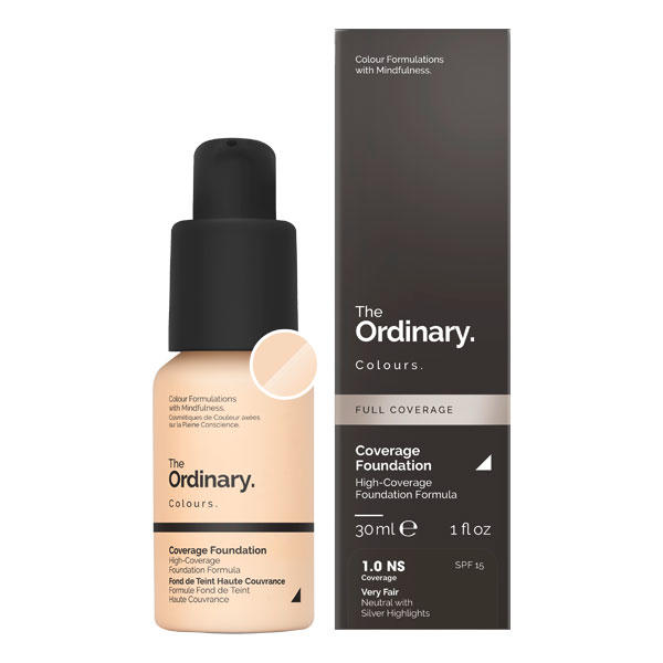 The Ordinary Coverage Foundation SPF 15 1.0 NS Very Fair Neutral with Silver Highlights 30 ml - 1