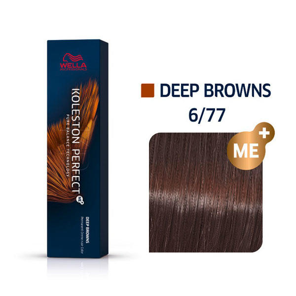 Wella Koleston Perfect Deep Browns 6/77 Dunkelblond Braun Intensiv, 60 ml - 1
