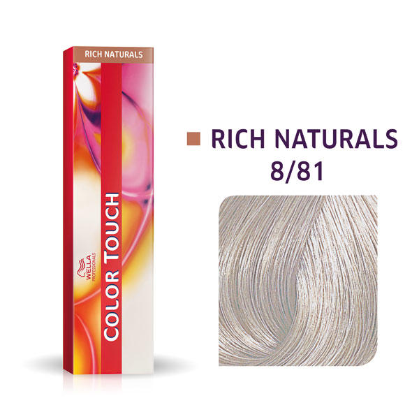 Wella Color Touch Rich Naturals 8/81 Hellblond Perl Asch - 1