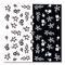 LCN Nail Art Sticker Black and White Flowers