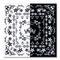 LCN Nail Art Sticker Black and White Kings