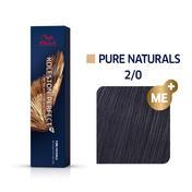 Wella Koleston Perfect ME+ Pure Naturals 2/0 Schwarz, 60 ml