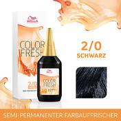 Wella Color Fresh pH 6.5 - Acid 2/0 Schwarz, 75 ml