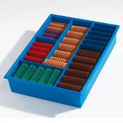 Basler Lockenwickler Sortimentskasten Kasten blau mit 60 Wicklern