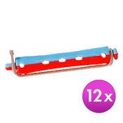 BHK Professionele perm korte oproller Rood-blauw, Ø 11 mm, Per verpakking 12 stuks