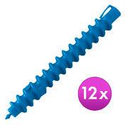 BHK Bigoudis spirales Ø 12 mm, 16 cm de long, Par paquet 12 pièces