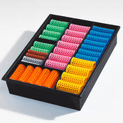Efalock Boîtes d'assortiment Couleur noire avec 60 rouleaux