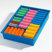 Efalock Boîtes d'assortiment Couleur bleue avec 60 rouleaux