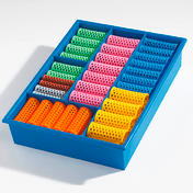 Efalock Original-Griffig-Haarwickler Sortimentskasten Kasten blau mit 60 Wicklern