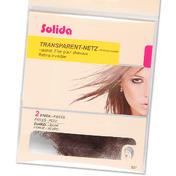 Solida Transparante kapnetten Donker, Per verpakking 2 stuks