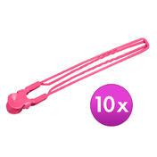 Fripac-Medis Jumbo-Clips Rosa, Pro Packung 10 Stück