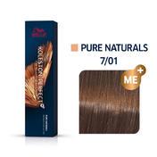 Wella Koleston Perfect ME+ Pure Naturals 7/01 Mittelblond Natur Asch, 60 ml