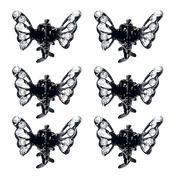 Dynatron Mini pinces à cheveux butterfly Cristal