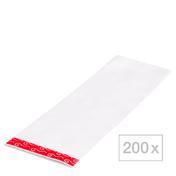 BHK effect wrap streng folie Formaat: 20,2 x 9,0 cm, transparant, Per verpakking 200 stuks
