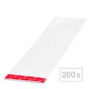 BHK effect wrap streng folie Formaat: 29,6 x 9,4 cm, transparant, Per verpakking 200 stuks