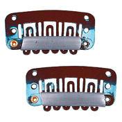 Solida Peignes-clips Grand peigne-clip, 3,2 cm x 1,6 cm, Havane