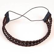 Solida Bandeau de cheveux artificiels Brun Foncé