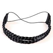 Solida Bandeau de cheveux artificiels Noir
