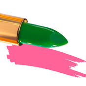 "IKOS De ""denkende"" lippenstift DL2, Groen/Nacht Roze (2)"