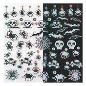 LCN Nail Art Sticker Black and White Spiders