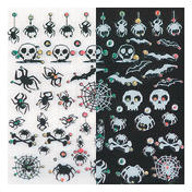 LCN Nail Art Sticker Zwart en Wit Spinnen