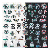 LCN Nail Art Sticker Black and White Scull and crossbones