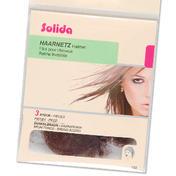 Solida Parel netten met rond rubber Donkerbruin, Per verpakking 3 stuks