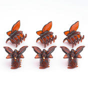 H+B Italia Schmetterlingsklammer klein Havanna