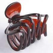 H+B Italia Pince à cheveux pieuvre grand modèle Havane