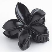H+B Italia Haarklammer Blüte klein Schwarz