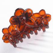 H+B Italia Haarklammer Blüten-Ornament Havanna