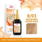 Wella Color Fresh pH 6.5 - Acid 8/03 Hellblond Natur Gold, 75 ml