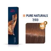 Wella Koleston Perfect ME+ Pure Naturals 7/03 Mittelblond Natur Gold, 60 ml