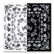 LCN Nail Art Sticker Zwart en Wit Kings