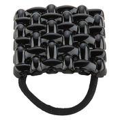 H+B Italia Gevlochten rubber Zwart
