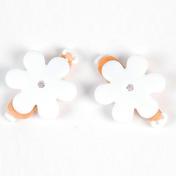 Solida Elastiques avec fleur et strass blanc