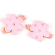 Solida Elastiques avec fleur et strass rose