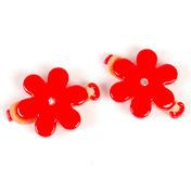 Solida Elastiques avec fleur et strass rouge